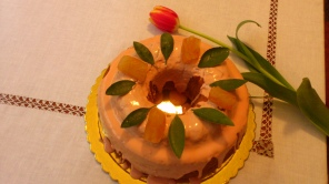 Κέικ με ροζ γλάσο ( για... ερωτευμένους)